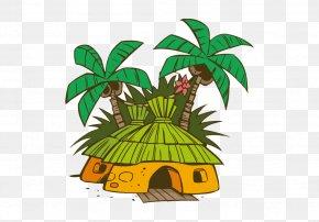 Vector Jungle Lodge - Euclidean Vector Cartoon Illustration PNG