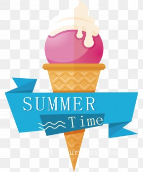 Ice Cream Sticker Design - Ice Cream Adobe Illustrator PNG