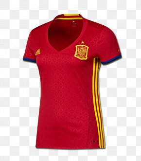 Football - UEFA Euro 2016 Spain National Football Team Jersey PNG