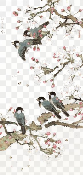 Bird Background - China Bird-and-flower Painting Chinese Art Chinese Painting PNG