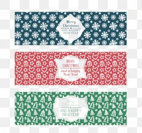 3 Christmas Banner Vector Material - Web Banner Christmas Paper New Year PNG