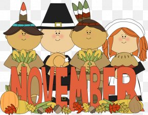 November Cliparts - Pilgrims Thanksgiving Native Americans In The United States Clip Art PNG