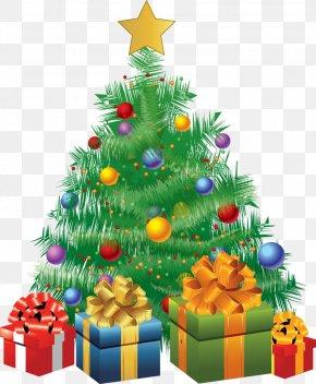 Christmas Program Cliparts - Christmas Tree Gift Clip Art PNG