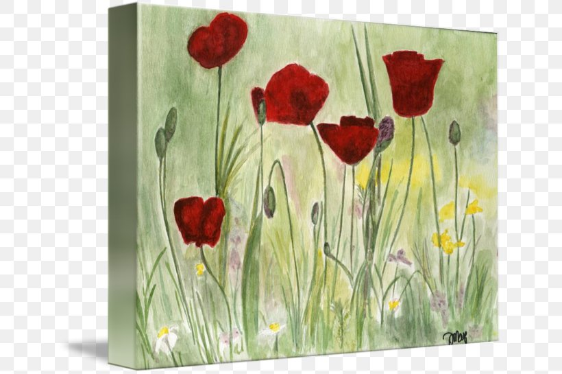 Flower Watercolor Painting Acrylic Paint, PNG, 650x545px, Flower, Acrylic Paint, Acrylic Resin, Art, Common Poppy Download Free