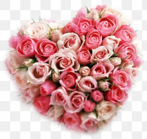Rose - Rose Flower Bouquet Heart Valentine's Day PNG