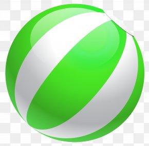Transparent Green Beach Ball Clipart - Clip Art PNG