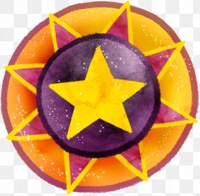 Five-pointed Star Badge Shape - Shape Five-pointed Star Circle PNG