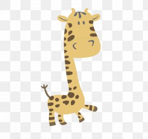 Giraffe Cartoon Vector Material - Giraffe Cartoon Drawing PNG