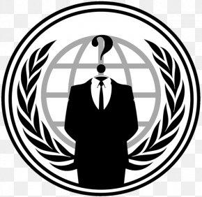 Anonymous - Anonymous Logo Decal Desktop Wallpaper PNG