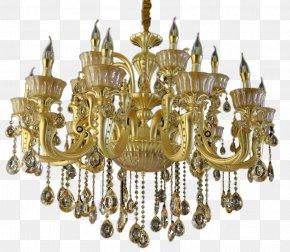 Crystal Light - Chandelier Light Lamp Glass PNG