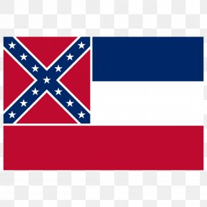 Flag - Flag Of Mississippi State Flag Flag Of The United States Confederate States Of America PNG
