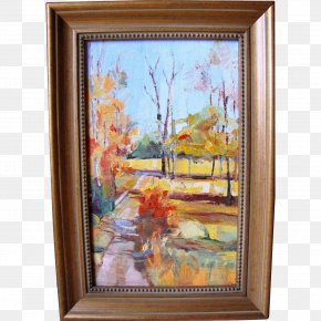 Painting - Still Life Oil Painting Paris Street; Rainy Day PNG
