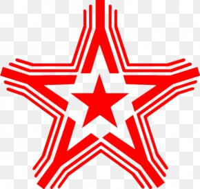 Five-pointed Star Red - Energy Drink Rockstar Sticker Uproar Festival PNG
