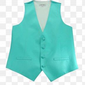 Sleeveless Vest - Gilets Neck Collar Sleeve Turquoise PNG
