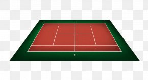 Hand Painted Red Badminton Court - Tennis Centre Ball Game Area Angle PNG