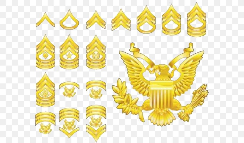 Military Rank United States Army Enlisted Rank Insignia Royalty-free, PNG, 600x480px, Military Rank, Army Officer, Badge, Enlisted Rank, Gold Download Free