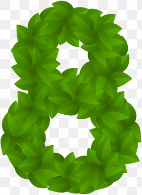 Leaf Number Eight Green PNG Clip Art Image - Sharon