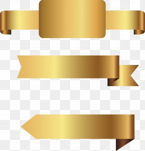 Vector Hand Painted Gold Label PNG