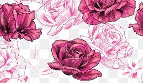 Rose Pattern - Rose Flower Pattern PNG