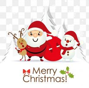 Cute Christmas Elderly - Santa Claus Christmas Card Greeting Card E-card PNG