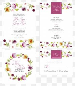 Wreath Wedding Invitation Card - Wall Decal Painting Fingerprint PNG
