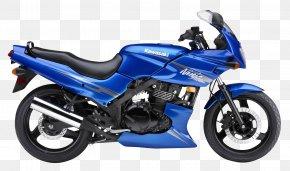 Blue Kawasaki Ninja 500R Motorcycle Bike - Kawasaki Ninja 500R Kawasaki Motorcycles Straight-twin Engine PNG