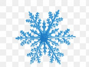 Blue Ice Snowflake Pattern - Snowflake Euclidean Vector Shape Hexagon PNG