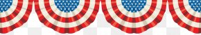Semicircular American Flag Banner Creatives - Flag Of The United States Banner Bunting Clip Art PNG