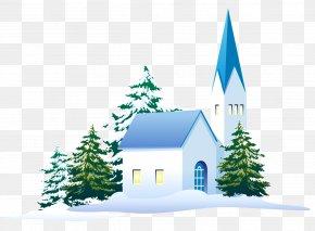 Snow - Snow Winter Pine Christmas Tree House PNG