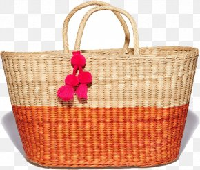 Straw Hat Sunscreen - Tote Bag Wicker Hamper Picnic Baskets PNG