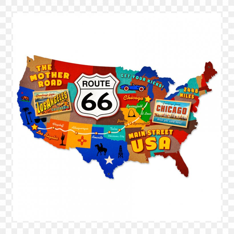 U.S. Route 66 In New Mexico Road Map Road Map, PNG ...