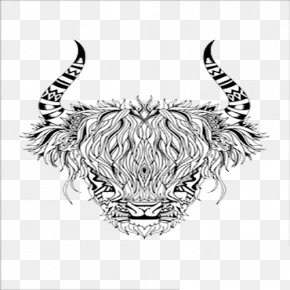 Black And White Graphic Goat - Goat Black And White PNG