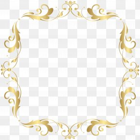 Deco Border Frame Clip Art Image - Image File Formats Lossless Compression PNG