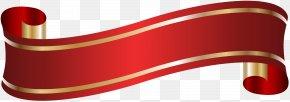 Elegant Banner Red Clip Art - Red Angle Font PNG