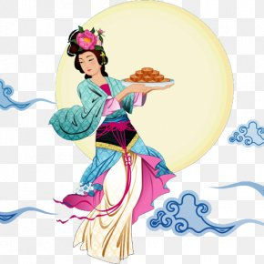 Mid Autumn Festival - Mooncake Mid-Autumn Festival Chang'e 嫦娥奔月 PNG