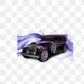 Personality Vintage Car - Classic Car Vintage Car Cartoon PNG
