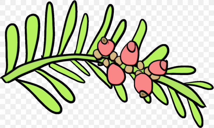 Leaf Green Plant Flower Branch, PNG, 939x564px, Watercolor, Branch, Flower, Green, Leaf Download Free