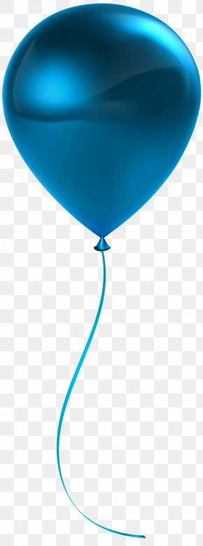 Single Blue Balloon Transparent Clip Art - Blue Balloon Clip Art PNG