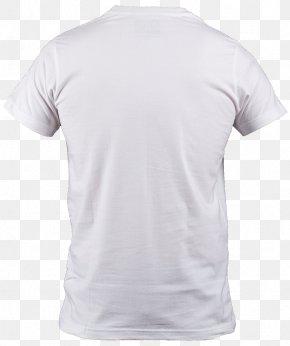 White T-Shirt - T-shirt Neck Polo Shirt Sleeve Collar PNG