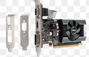 Computer - Graphics Cards & Video Adapters NVIDIA GeForce GT 710 GDDR5 SDRAM MSI GT 710 2GD5H-LP Video Card PNG