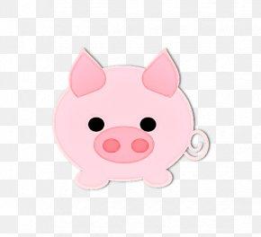 Sticker Livestock - Pink Cartoon Nose Snout Suidae PNG