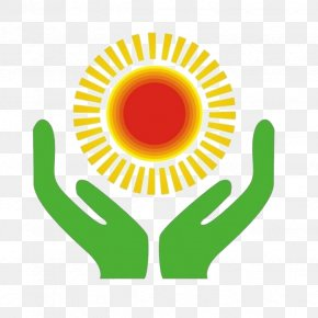 Hands Care Sun - Pixel Icon PNG