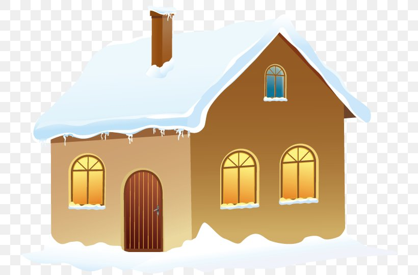 Snow Winter Clip Art, PNG, 744x539px, Gingerbread House, Building, Cottage, Elevation, Facade Download Free