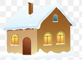 Winter House With Snow Picture - Snow Winter Clip Art PNG