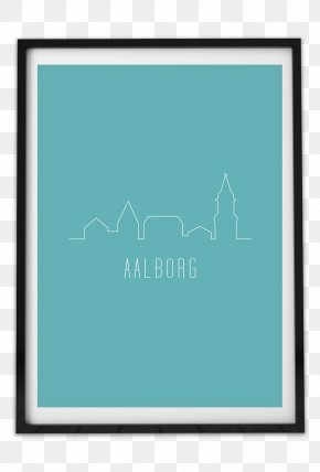 Line - Turquoise Picture Frames Line Font PNG