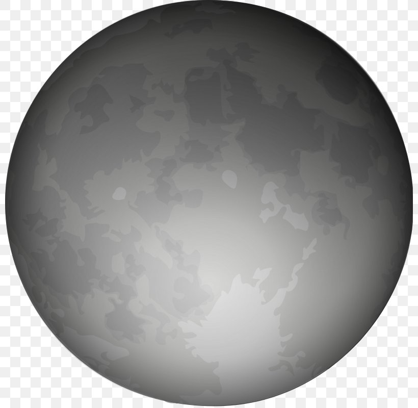 Full Moon Clip Art, PNG, 800x800px, Moon, Astronomical Object, Atmosphere, Black And White, Crescent Download Free