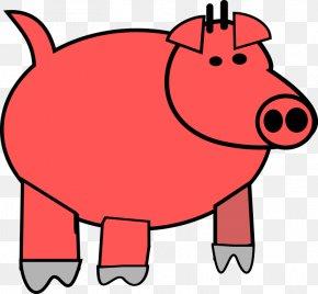 Cute Pig Pictures Cartoon - Domestic Pig Cartoon Clip Art PNG