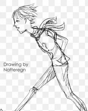 Thin Boy - Line Art Figure Drawing Cartoon Sketch PNG