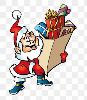 Santa Claus - Santa Claus Christmas Gift Cartoon Clip Art PNG