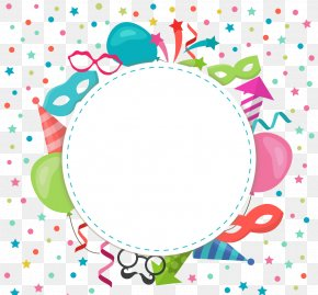 Color Cartoon Birthday Party Elements - Birthday Wish Parent-in-law Gift Greeting Card PNG
